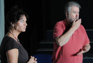 Tanya Myers as Lola & Mike Aherne as Mr Hall